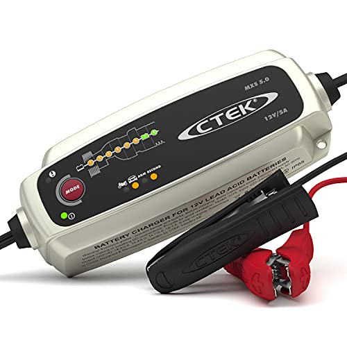CTEK MXS 5.0 Fully Automatic Battery Charger (Charges, Maintains and Reconditions Car and Motorcycle Batteries) 12V, 5 Amp - UK Plug from CTEK