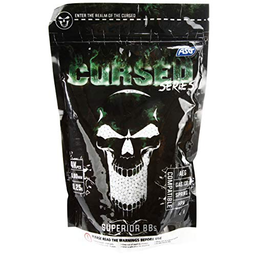 Asg Cursed Series Bb's 0.25g 1kg 4000 Bb's White 6mm Pellets Airsoft from CURSED