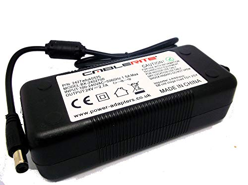 Dymo Labelwriter 450 Turbo Label Printer 24V ac/dc Mains UK Power Supply Adapter from CableRite