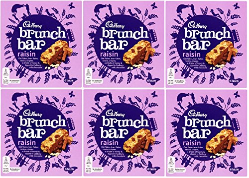 x6 Cadbury Brunch Easter Raisin Bar 6 PACK( 36 Bars) from Cadbury