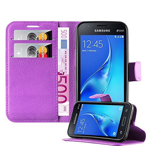 Cadorabo Book Case works with Samsung Galaxy J1 MINI in PASTEL PURPLE - with Magnetic Closure, Stand Function and Card Slot - Wallet Etui Cover Pouch PU Leather Flip from Cadorabo