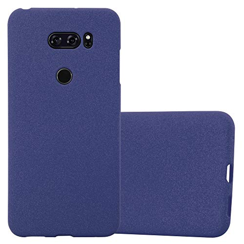 Cadorabo Case works with LG V30 in FROST DARK BLUE - Shockproof and Scratch Resistant TPU Silicone Cover - Ultra Slim Protective Gel Shell Bumper Back Skin from Cadorabo