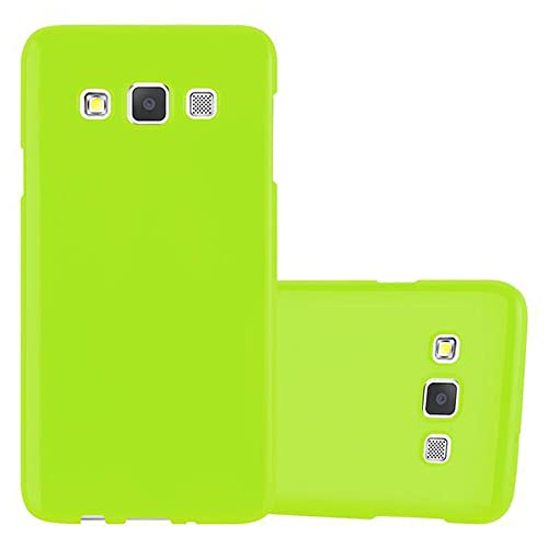 Cadorabo Case works with Samsung Galaxy A3 2015 in JELLY GREEN - Shockproof and Scratch Resistant TPU Silicone Cover - Ultra Slim Protective Gel Shell Bumper Back Skin from Cadorabo