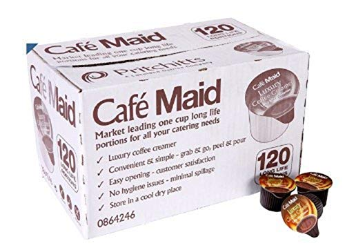 120 Café Maid Luxury Coffee Creamer Long Life Individual Portions from Café Maid