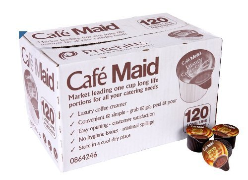 240 Café Maid Luxury Coffee Creamer Long Life Individual Portions from Café Maid