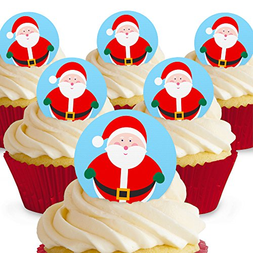 Cakeshop Santa Claus Father Christmas Edible Cake Toppers from Cakeshop PRE-CUT