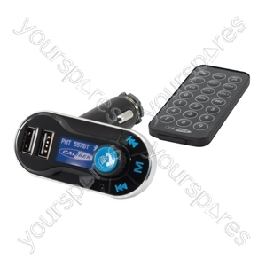 Bluetooth Handsfree FM Transmitter - Calling & Music Streaming from Caliber