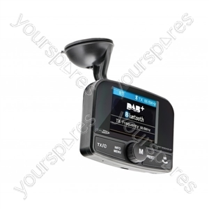 FM Transmitter - DAB+ & Bluetooth Call Streaming from Caliber