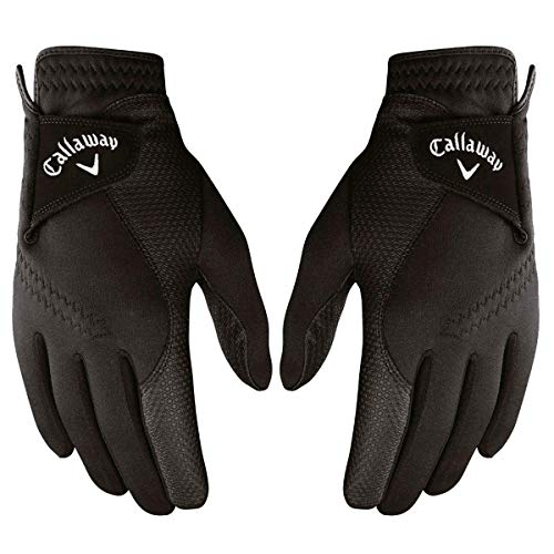 Callaway 2019 Men's Thermal Grip Golf Gloves (Pair), Black, Large from Callaway