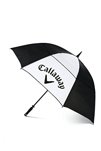 Callaway Golf Clean 60 Umbrella, Black/White, Medium from Callaway
