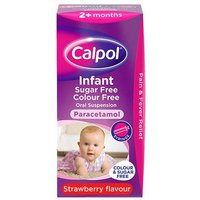 Calpol Colour and Sugar Free Infant Suspension Strawberry 100ml from Calpol