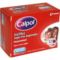 Calpol Six Plus Sugar Free Suspension Sachets 12 x 5ml from Calpol