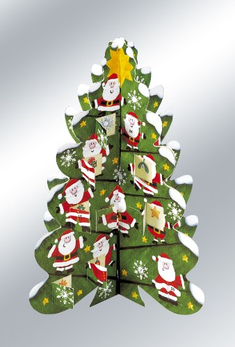 3D Christmas Tree Advent Calendar from Caltime Limited