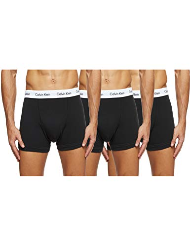 Calvin Klein Men's U2662G Boxer Low rise Trunks Pack of 3 (Black) Small from Calvin Klein