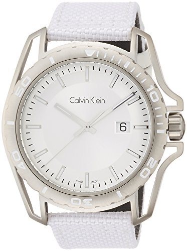 Calvin Klein Men's Analogue Quartz Watch with Textile Strap K5Y31VK6 from Calvin Klein