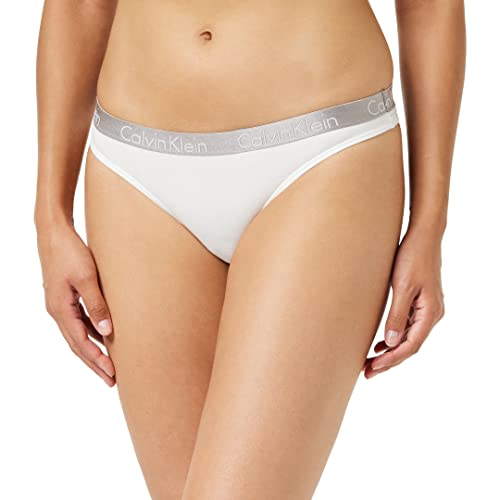 Calvin Klein Radiant Cotton Thong in White (Large) from Calvin Klein