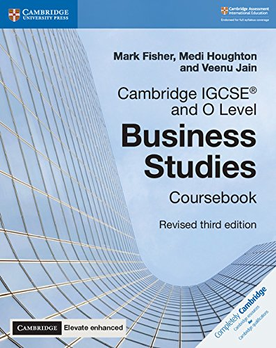Cambridge IGCSE® and O Level Business Studies Revised Coursebook with Cambridge Elevate Enhanced Edition (2 Years) (Cambridge International IGCSE) from Cambridge University Press