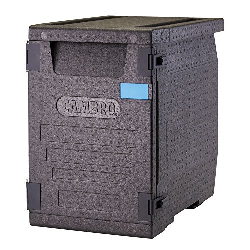 Cambro EPP400110 Cam GoBox, Front Loader, 1/1 GN Pan, 86 L, 6 mm x 65 mm, Black from Cambro