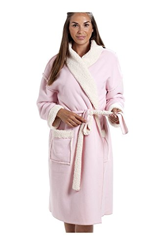 527e62ca2d Camille Womens Ladies Various Style and Colour Soft Fleece Bathrobe 14 16  Stay Soft Pink