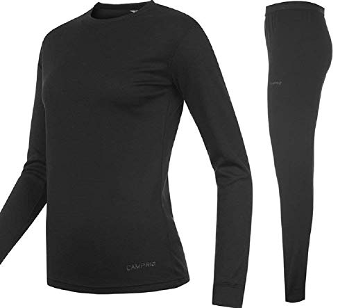 Campri Sports Base Layer Junior Thermal Top & Pant Set Black Unisex (13 years XLB) from Campri