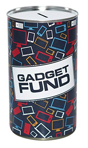 Gadget Fund Savings Tin - (LRG) - Save for those Cool Gadgets! Holds Upto £500 from Can Tastic UK