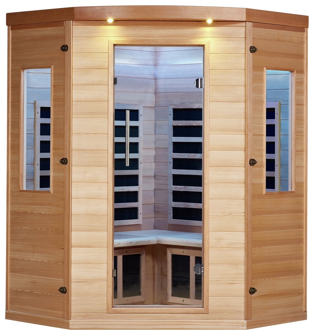 Canadian Spa Aspen 4 Peson Far Corner Sauna - 50HZ from Canadian Spa Company