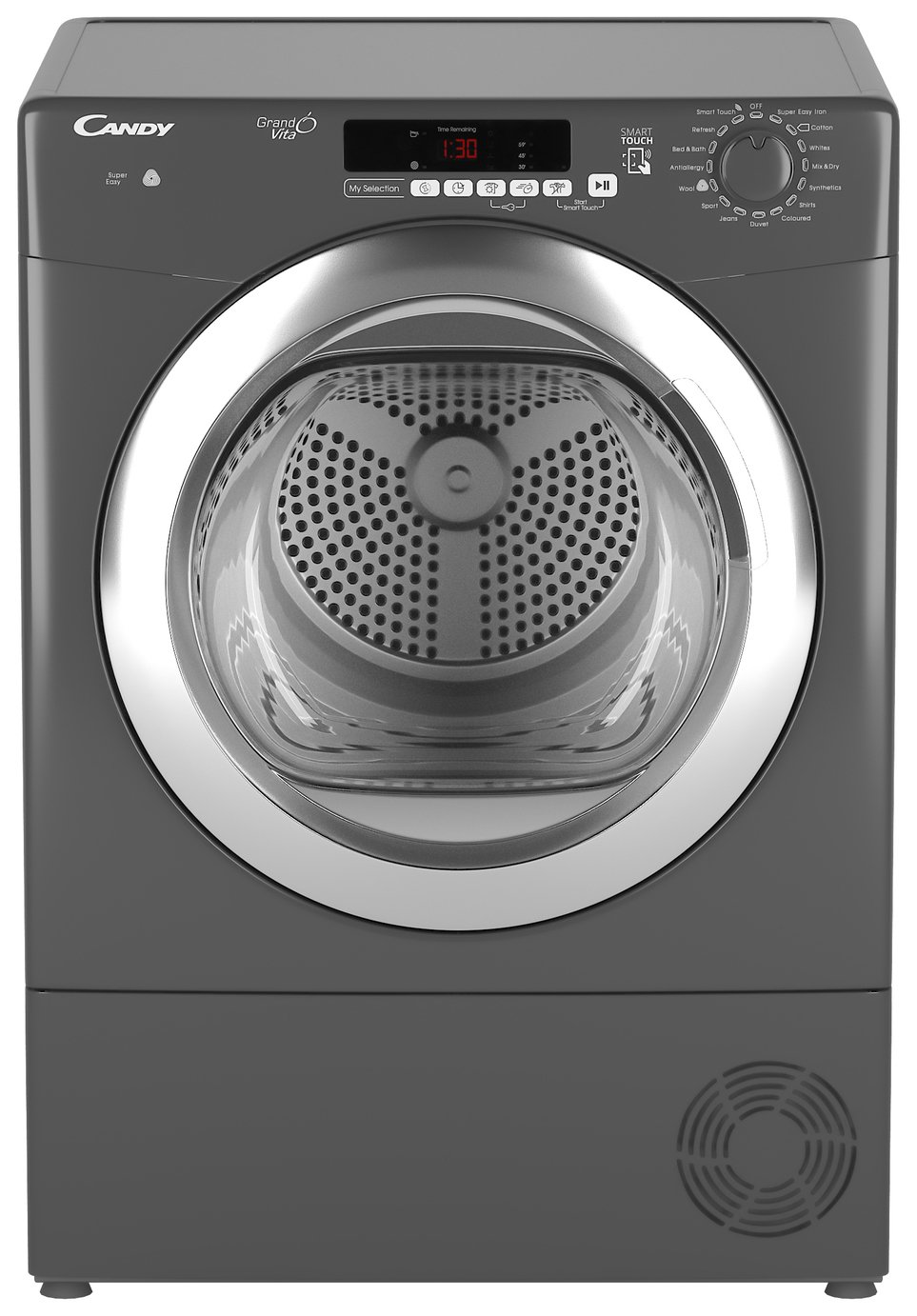 Candy GVSC9DCRG 9KG Condenser Tumble Dryer- Graphite from Candy