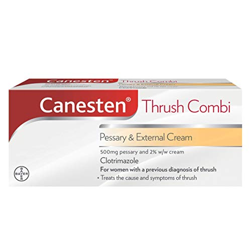 Canesten Thrush Combi Pessary & External Cream, Clotrimazole, Complete Thrush Treatment from Canesten