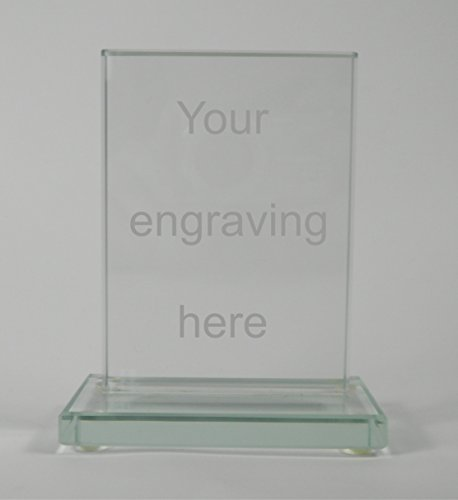 Personalised Jade Glass Free Standing Plaque 70mm x 100mm from Cannon Collectables