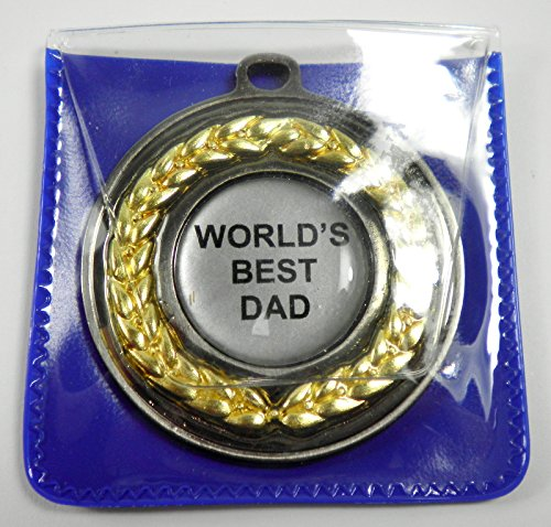 "Personalised ""World's Best Dad"" Medal in Wallet from Cannon Collectables"