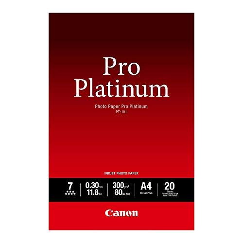 Canon 2768B016 PT-101 Photopaper A4 (Pack of 20) from Canon