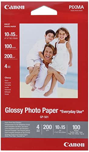 Canon GP 501 Glossy Photo Paper, 10 x 15 cm, 100 Sheets from Canon