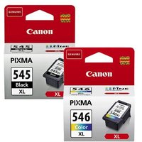 Original Multipack Canon Pixma MG2450 All-in-One Printer Ink Cartridges (2 Pack) -PG-545XL/CL-546XL_13061 from Canon