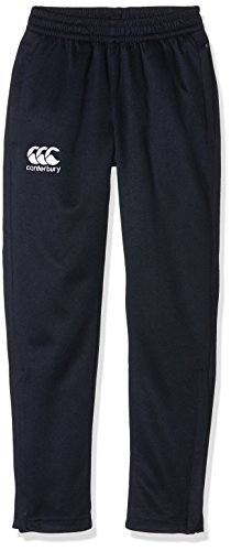 Canterbury Boys' Stretch Tapered Poly Knit Pants, Navy/Red/White, 12 Years from Canterbury