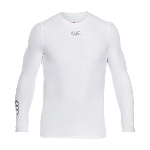 Canterbury Men's Thermoreg Long Sleeve Base Layer Top - White, X-Small from Canterbury