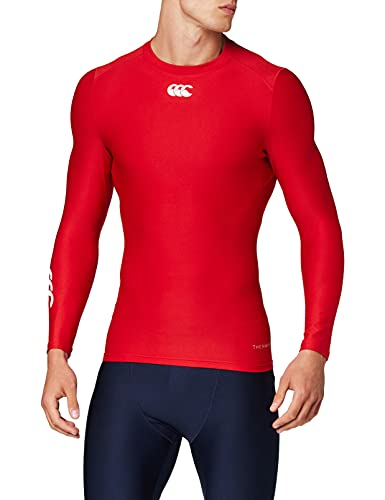 Canterbury Men's Thermoreg Long Sleeve Baselayer Top, Flag Red, Medium from Canterbury