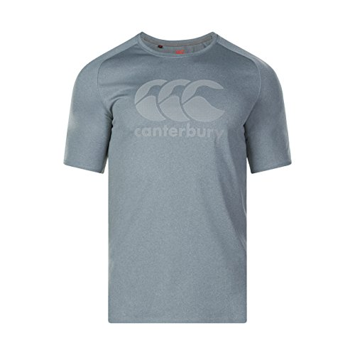 Canterbury Men's Vapodri Large Logo Training T-Shirt, Static Marl, Small from Canterbury