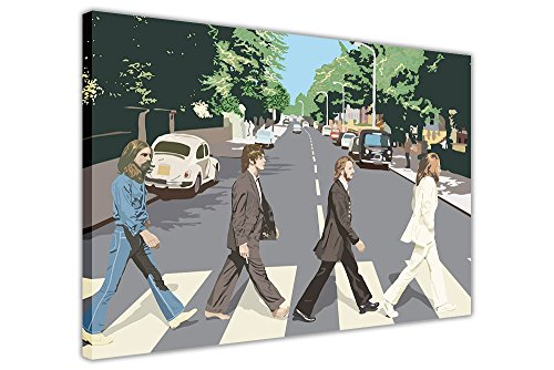 "ICONIC THE BEATLES ABBEY ROAD ALBUM POSTER CANVAS WALL ART PRINTS FRAMED PICTURES MUSIC PHOTOS SIZE: 30"" X 20"" (76CM X 50CM) from Canvas It Up"