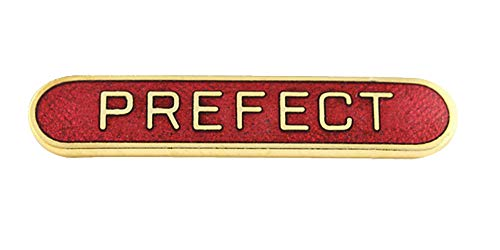 Capricornone Prefect School Bar Badge Handmade Vitreous Enamel (Red) from Capricornone
