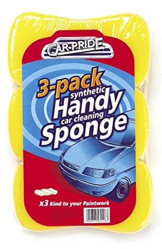 Car Pride CP011 Handy Car Cleaning Sponges, Pack of 3 from Car Pride