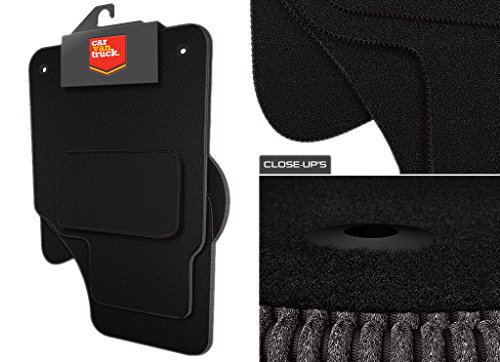 Car Van Truck Brand Name (Q132:CT55) 4 Piece Seat (2013-2018) Leon (3rd gen) Vehicle Specific Car Mat Set in Black Carpet with Black Edge Trim Colour from Scotspeed UK Ltd