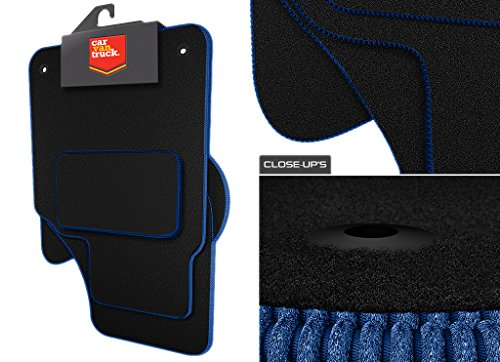 Car Van Truck Brand Name (Q253:CT55) 4 Piece Peugeot (2014-2018) 108 Vehicle Specific Car Mat Set in Black Carpet with Black Edge Trim Colour from Scotspeed UK Ltd