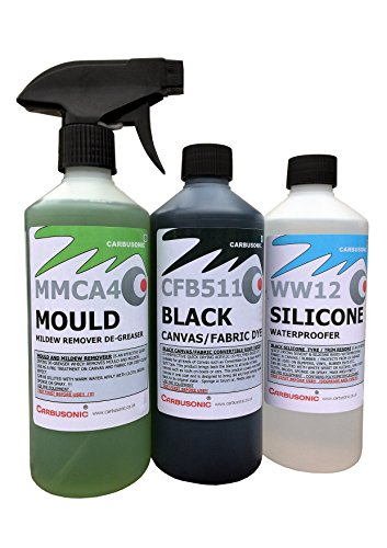 Carbusonic Convertible roof cleaner kit, fabric soft top dye, mould remover and water-sealer from Carbusonic