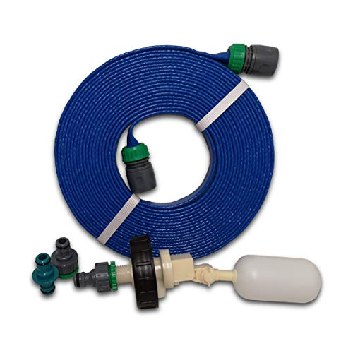 Suitable for Aquaroll Mains Water Adaptor Ball Valve Kit From Care-avan with Space Saving 7.5 mtr FLAT Food Grade Hose BY CARE-AVAN from Care-avan