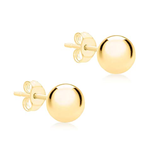 Carissima Gold Women's 9 ct Yellow Gold 5 mm Ball Polished Stud Earrings from Carissima Gold