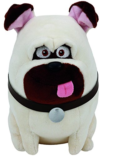 Secret Life Of Pets Mel Soft Toy Ty Beanie Babies Baby Beanies Pug Dog Plush from Ty