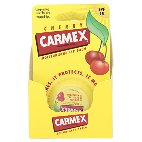 Carmex Blister Lip Balm Pot, Cherry 7.5 g (Pack of 8) from Carmex