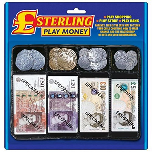Sterling Pretend Play Money Set For Role Play Games by Carousel from Carousel Toys and Gifts