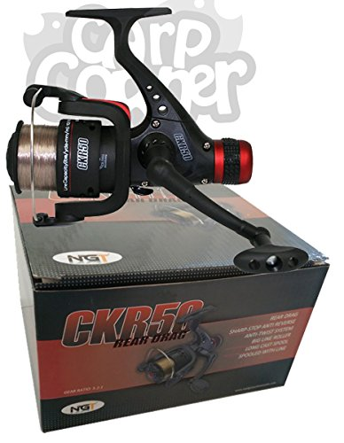 CK50 Match & Coarse Fishing Reel With Rear Drag Pre Loaded With Brown 8lb Line (2 Reels) from Carp-Corner