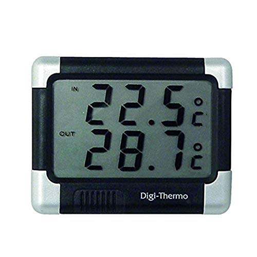 Carpoint 1121212 Inside / Outside Thermometer Black/Silver from Carpoint
